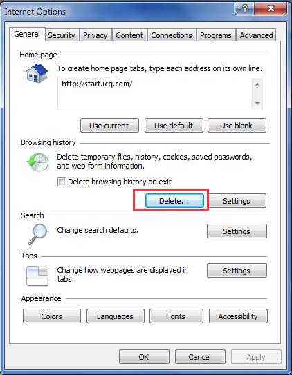 Internet Explorer Cookies löschen