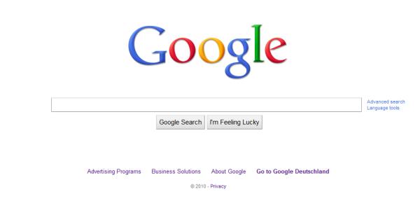 Google Screenshot Oktober 2010