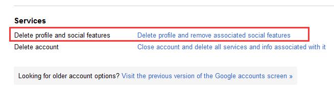 Google Plus  Account löschen