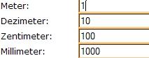 Meter Zentimeter Dezimeter Millimeter