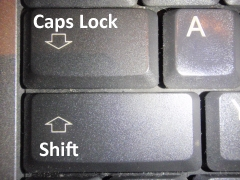 Shift CapsLock Taste
